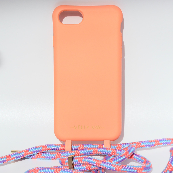 NECKLACE CASE 2 in 1 - Peach-Apple iPhone 7/8-Candy Handyband