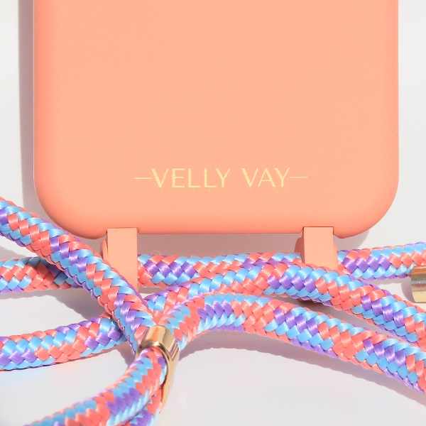 NECKLACE CASE 2 in 1 - Peach-Apple iPhone X/XS-Candy Handyband