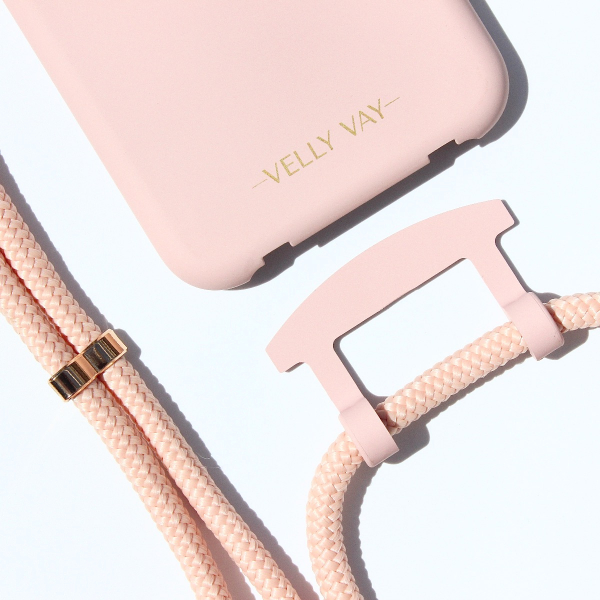 NECKLACE CASE 2 in 1 - Powder Pink-Apple iPhone 11-Vanilla Handyband