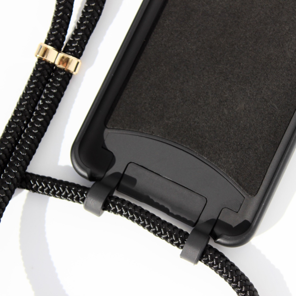 NECKLACE CASE 2 in 1 - Black-Apple iPhone X/XS-Double Black